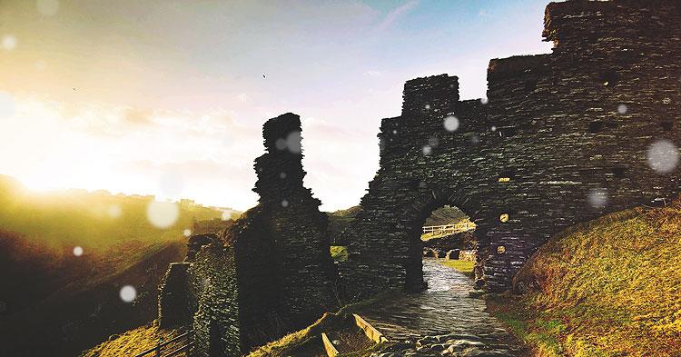 picture tintagel castle