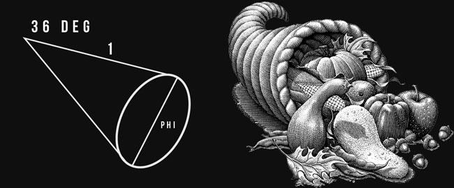 Phi Ratio as Horn of Plenty