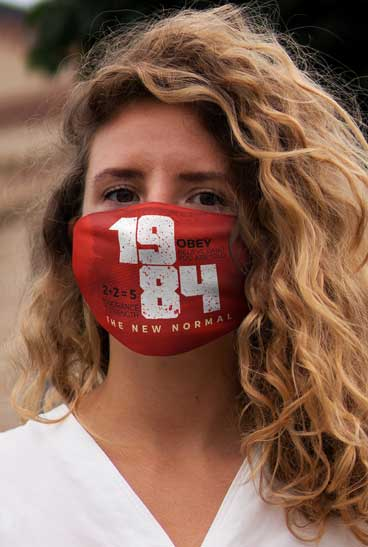 The new normal 1984 - Gesichtsmaske - face mask - mondkapje