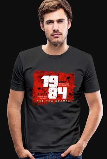 This image has an empty alt attribute; its file name is the-new-normal-1984-tshirt.jpg