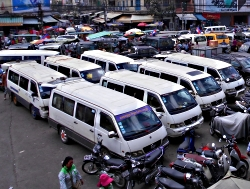 Parkering nær Orussey Marked i Phnom Penh