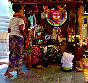 Daun Penh alter i Wat Phnom