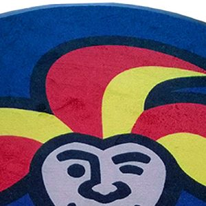 Pyöreä logomatto omalla painatuksella. Pyöreä, vieraita tervehtivä matto yritykseen tai kotiin, omalla painatuksellasi. Konepesunkestävä mainosmatto.