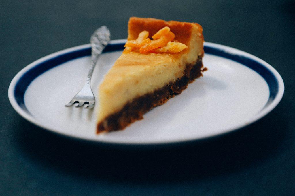 recept voor vegan cheesecake met sinaasappel