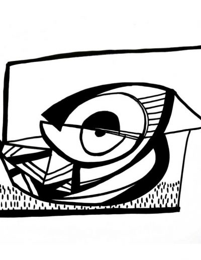 Majbrit Nielsen, tusch tegning