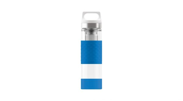 Thermo Flask Hot & Cold Glass Electric Blue 0.4l