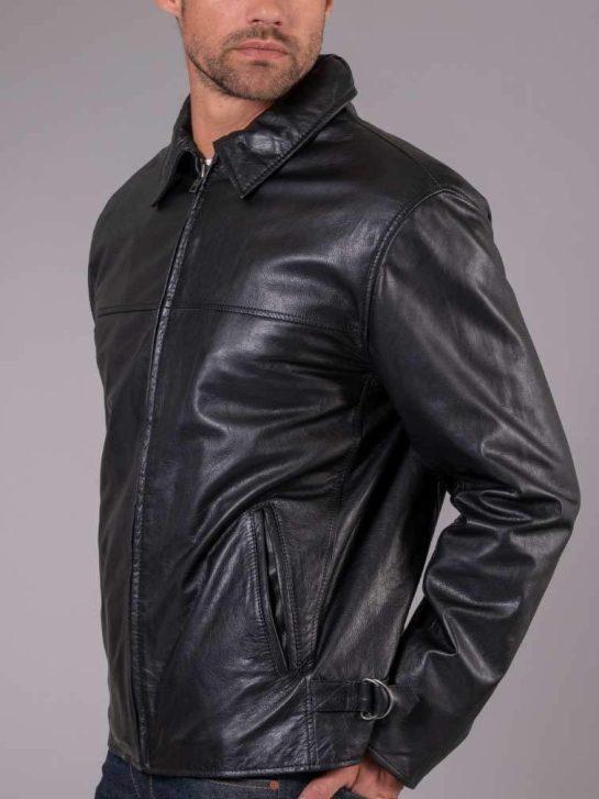 Skinnjacka svart 50-tal för honom, Malungsbutiken i Norrtälje