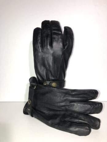 Otto herrhandske svart lammskinn
