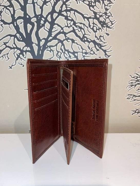 Plånbok i skinn mellanstor flera färger