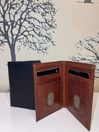 Plånbok mindre utan mynt brun & svart