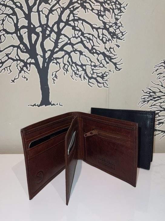 Plånbok dollarmodell brun & svart