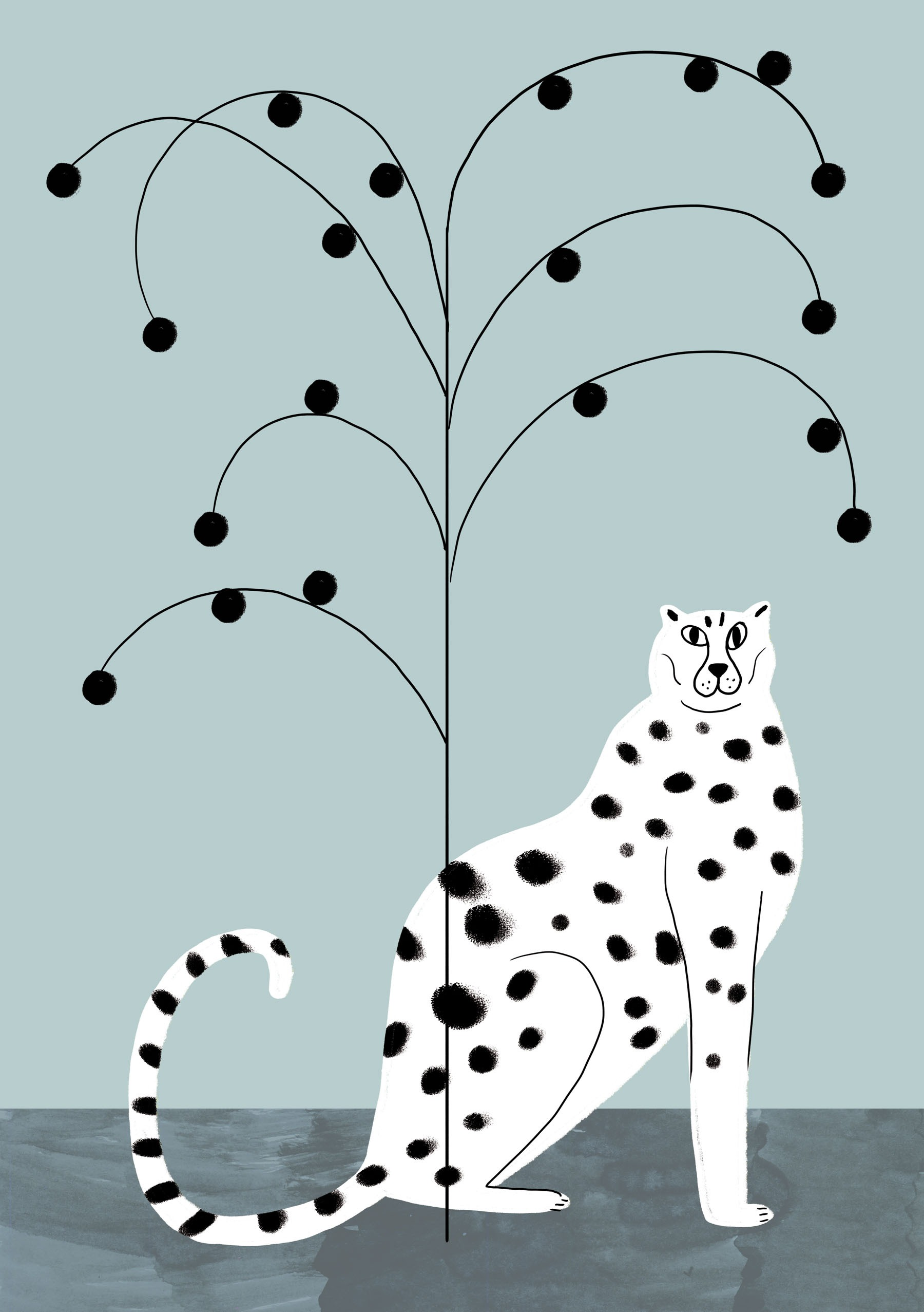 TROPICANA CHEETAH AND TREE - Personal Work