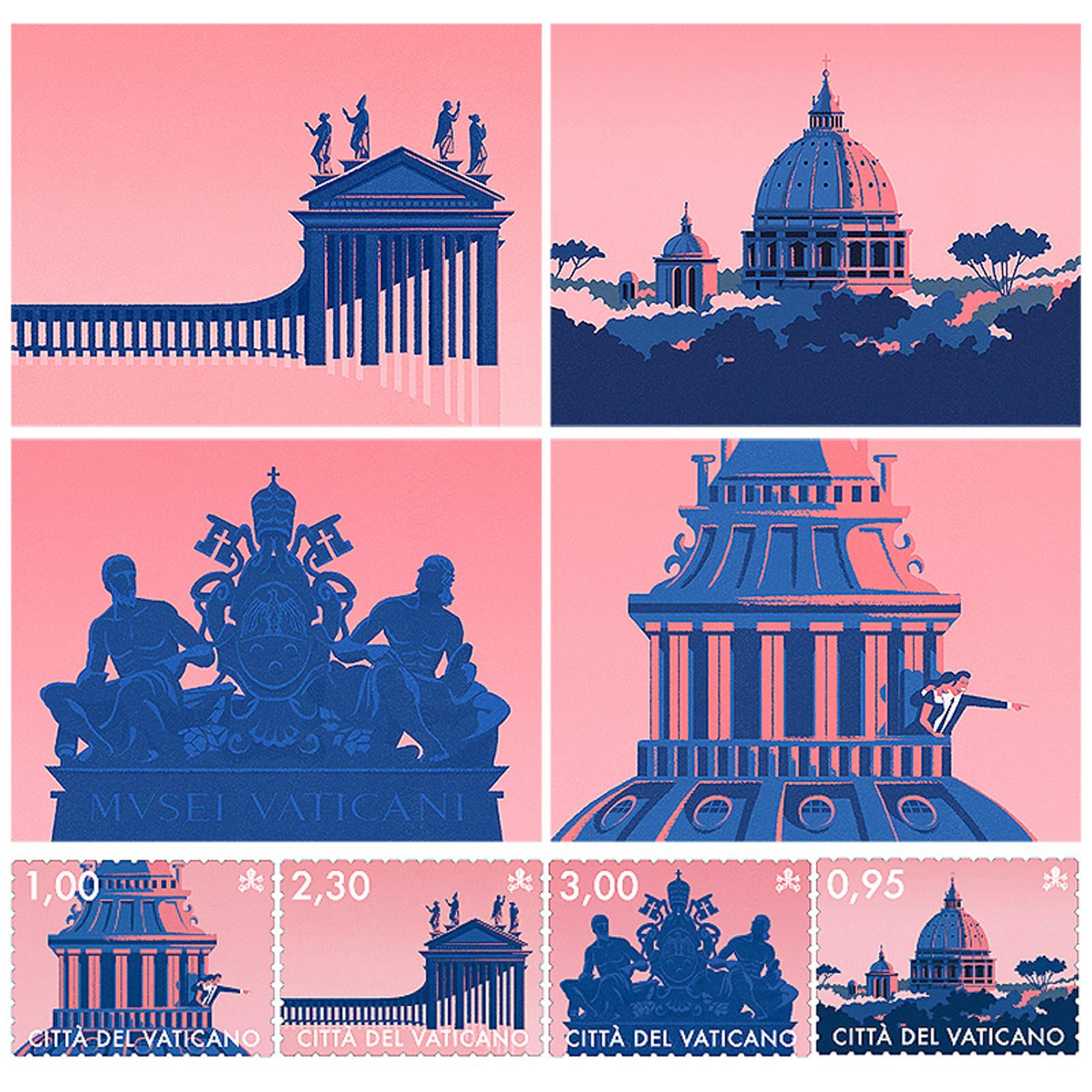 POSTCARD 05 - The Philatelic Office of the Vatican
