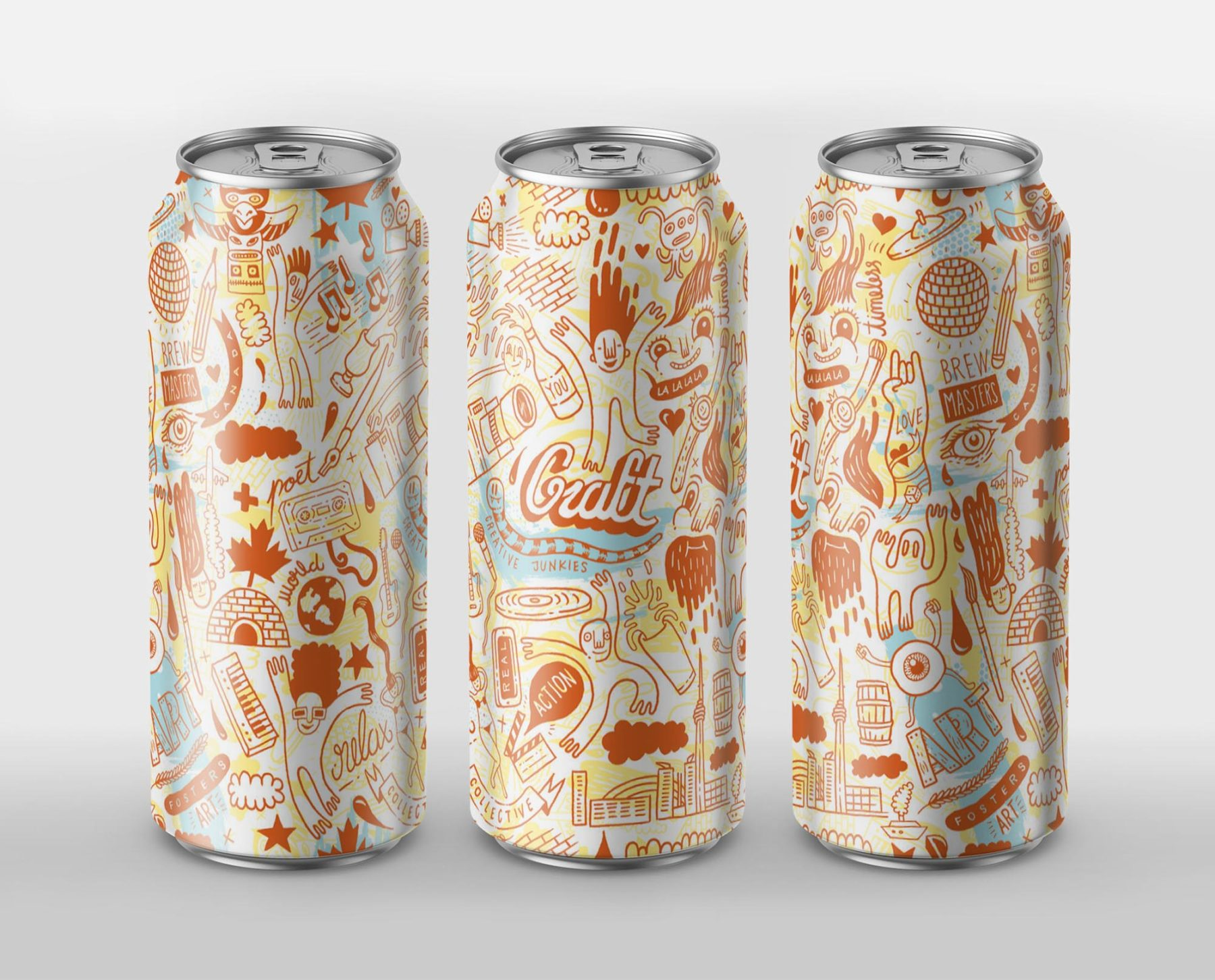 CANADA BREWERY - Packaging Illustration 01