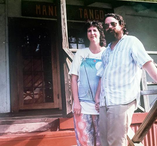 Smokey and Jane at the original Mango Tango art gallery