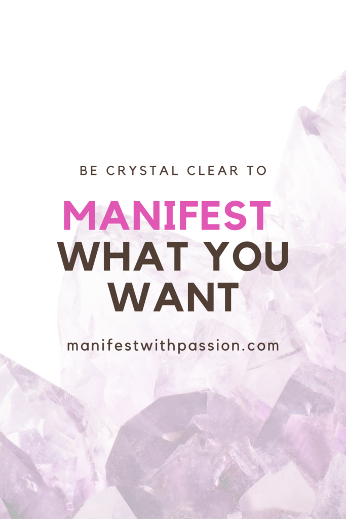 to manifest what you want
