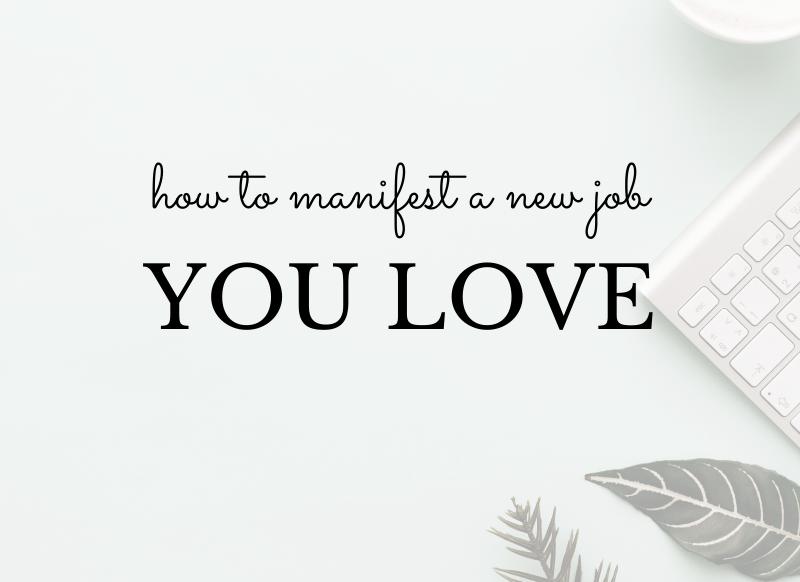 manifest a new job