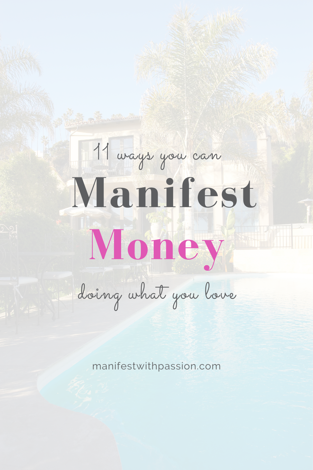 how you can manifest money