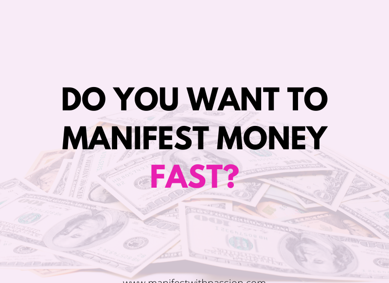 manifestation for money