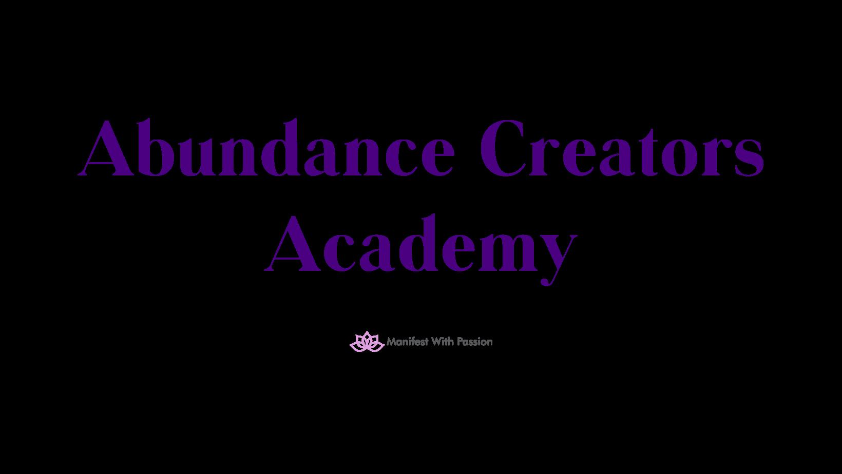 Abundance creators academy