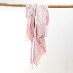 Hammam håndklæde lyserød Karinna