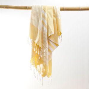Hammam håndklæde Lysegul Karinna