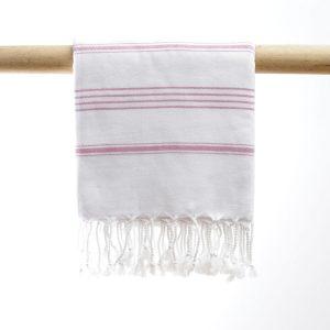 Hammam Nurlina hvid/lys pink