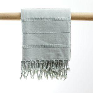 Hammam badehåndklæde stone wash løvgrøn manipura living