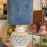 lampe keramik andalucia rund hvid