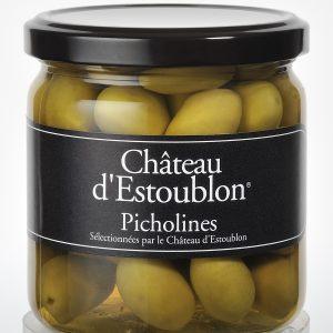 grønne oliven fra chateau d'estoublon og manipura living