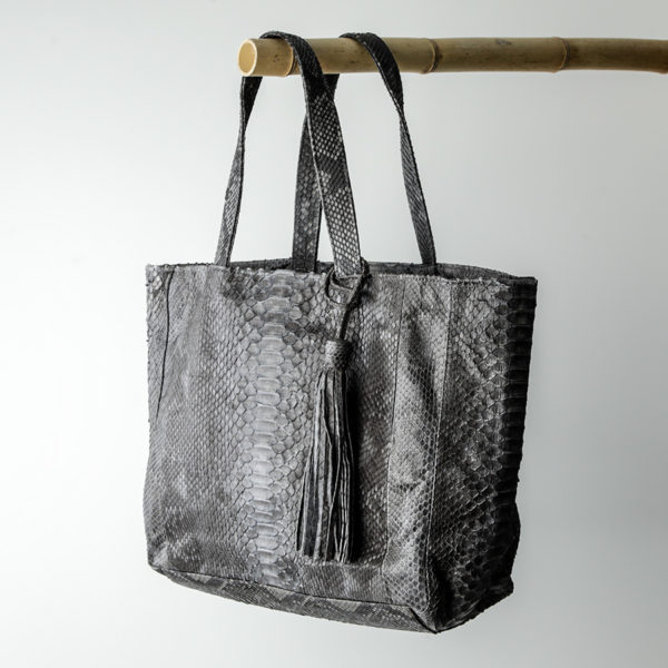 kundalini big shopper bag python skin - grå