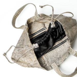 kundalini big shopper bag python skin - inside