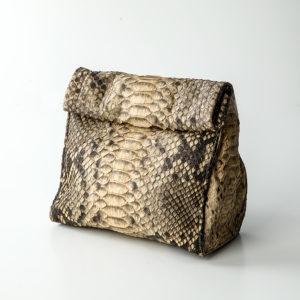 Håndtaske python skind - cognac - Kundalini Boho Wrap