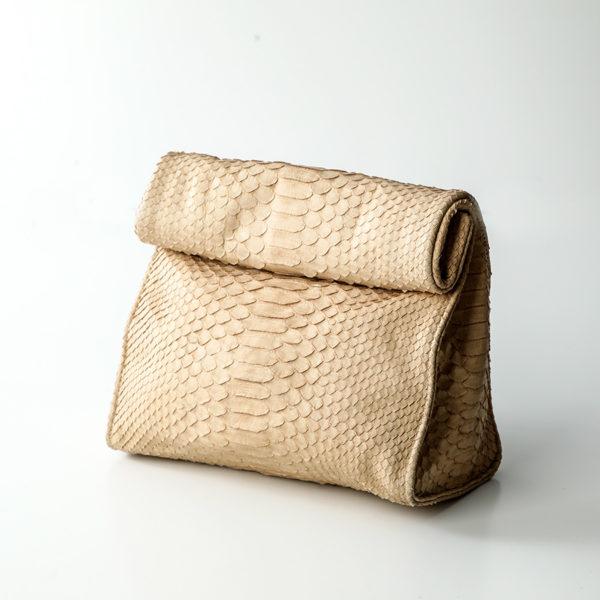 Håndtaske python skind - creme - Kundalini Boho Wrap