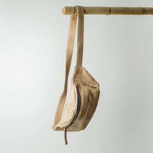 kundalini crossbody bum bag python skind creme
