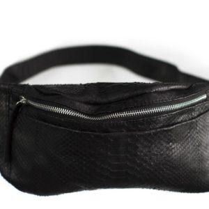 Crossbody taske python skind - kundalini festive bum bag