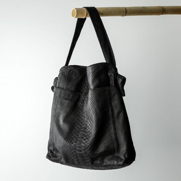 Elegance taske sort python skind - kundalini
