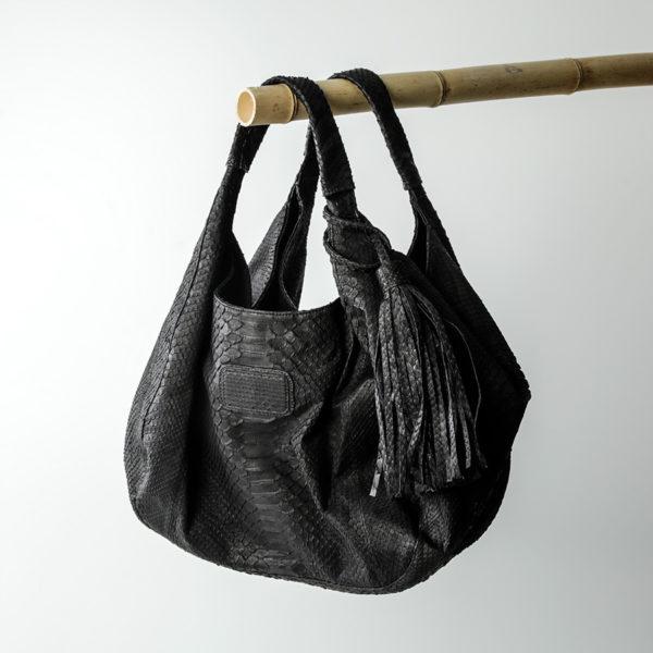 Rapsody taske sort python skind - kundalini