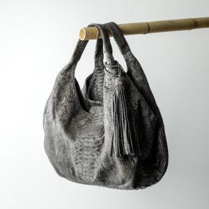 rapsody taske python skind - grå - kundalini