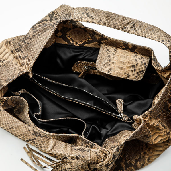rapsody taske python skind inside - kundalini