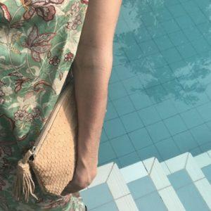 beauty clutch taske python skind - creme - kundalini ved pool