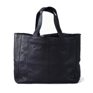 Kundalini big shopper bag python skind - sort bagside
