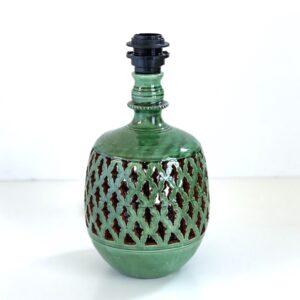 grøn keramik lampefod bord