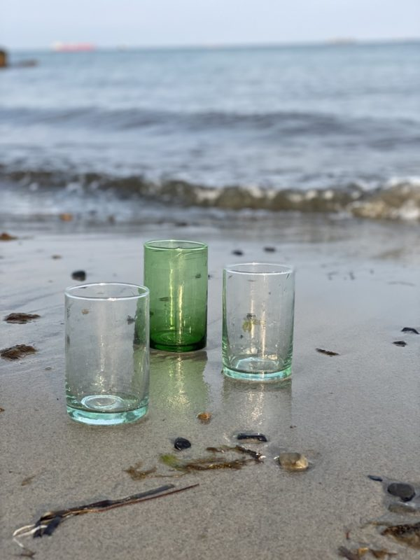 mundblæste glas recycled Casablanca large
