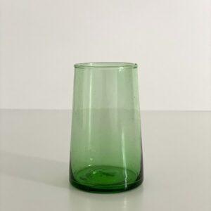 mundblæste Glas FEZ - L grønt genbrugsglas