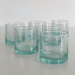 mundblæste Glas FEZ - S klare 6 stk genbrugsglas