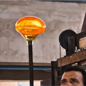 produktion mundblæste glas recycled glas