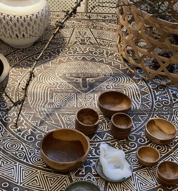 TIMOR coffee kvadratisk med maske fra Bali