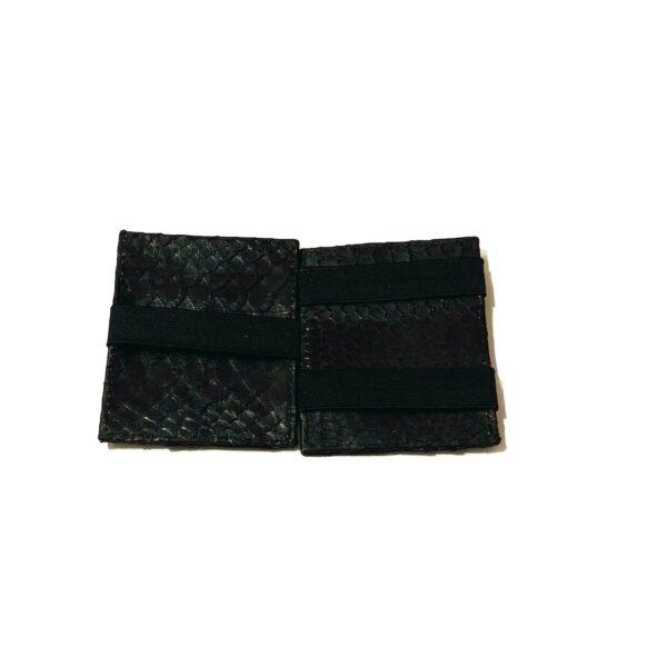 Gentlemen wallet herrepung i sort python med elastik