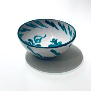 Grøn skål simpel deko L - Keramik Andalucia